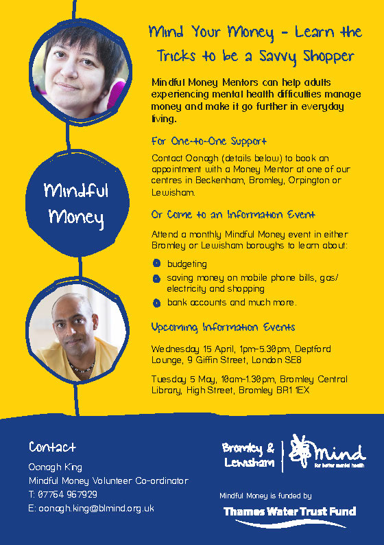 Mindful Money April May 2015 Events poster