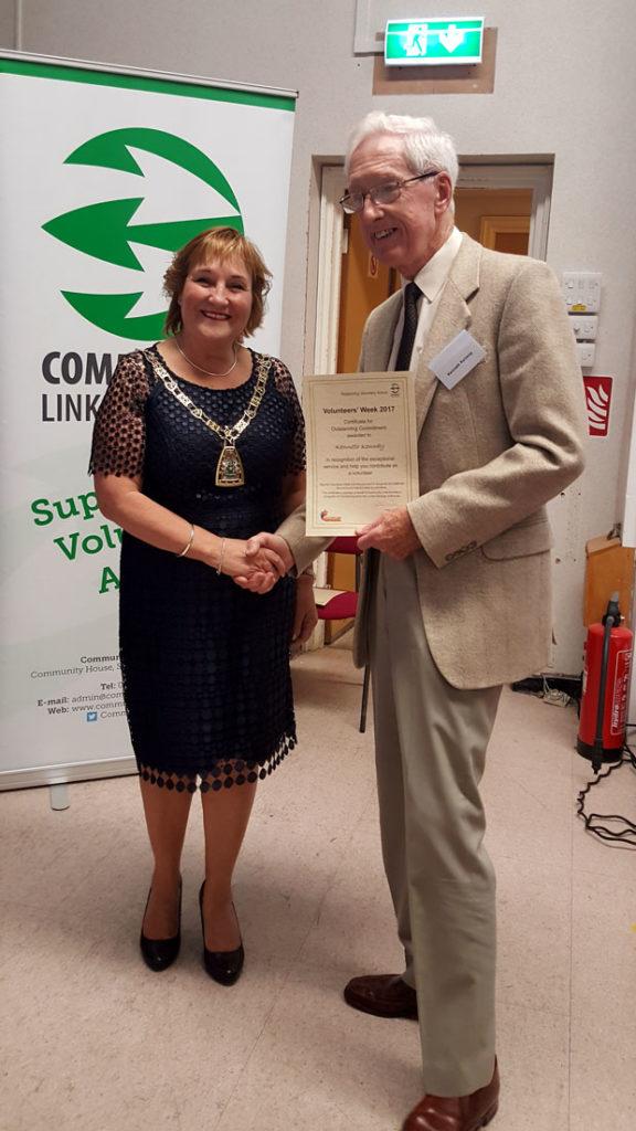 Ken receives Outstanding Commitment Award