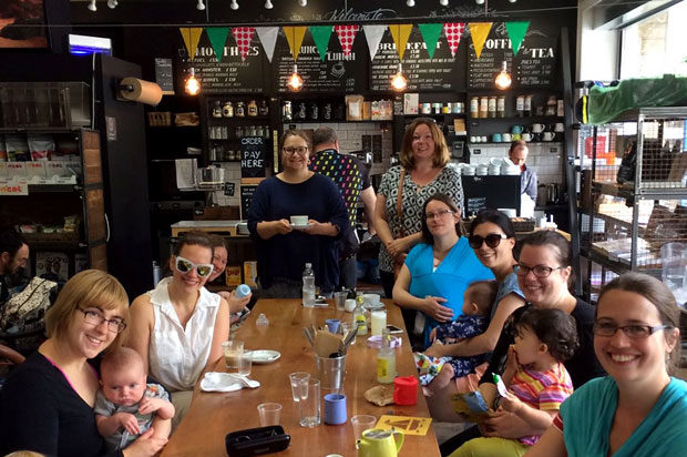 Bromley Mindful Mums having drinks at local cafe after Crystal Palace Park walk