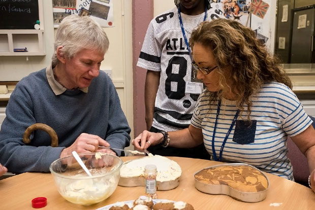 Cake baking at the MindCare Dementia Support centre