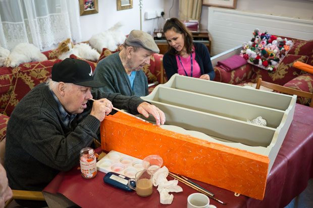 Craft activities at MindCare Dementia Day Centre in Bromley borough