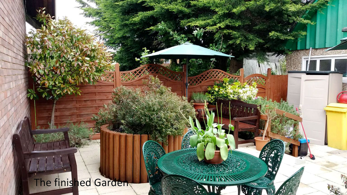 The refurbished garden at St Paul's Wood, MindCare Dementia Support Centre in Orpington