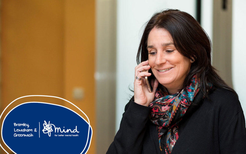 Woman on photo to Greenwich Mindline Telephone Counselling