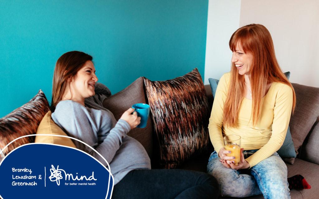 pregnant woman speaking to a befriender