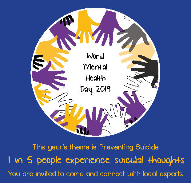 Bromley World Mental Health Day 2019 front of flyer