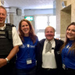 Bromley Metropolitan Police with BLG Mind staff at Bromley World Mental Health Day 2019 event