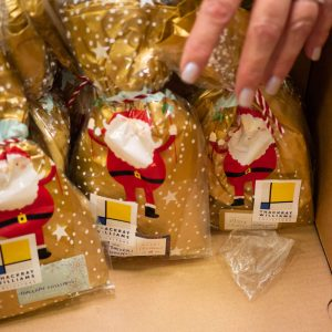 Christmas gifts in a box from Thackray Williams Solicitors