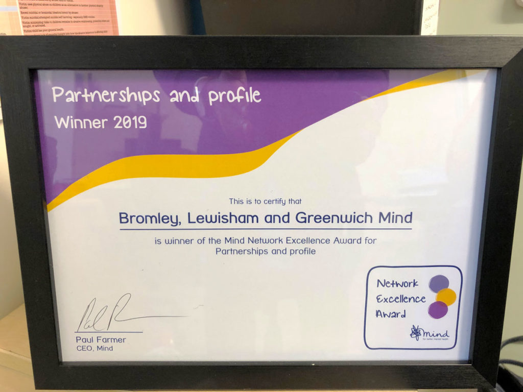 Partnerships and Profile certificate for BLG Mind