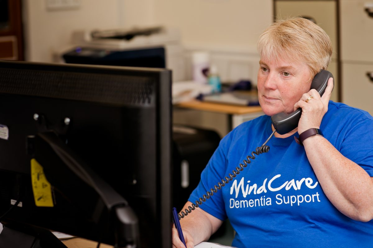 A female BLG Mind member of staff answering the phone.