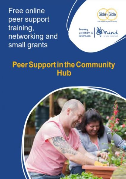 Peer Support in the Community Hub leaflet