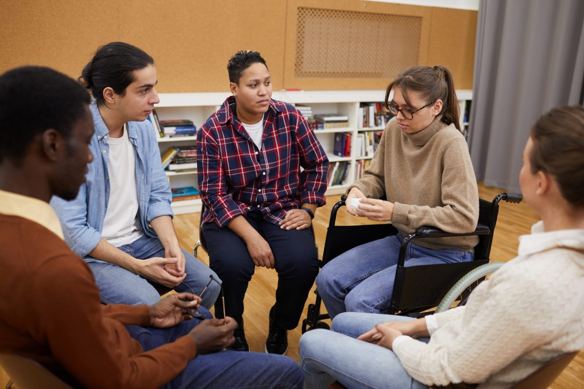 Diverse peer support group
