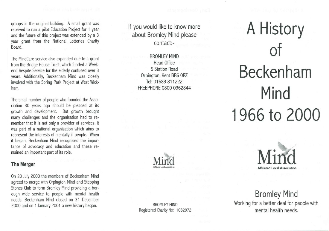 Historia umysłu Beckenham 1966-2000