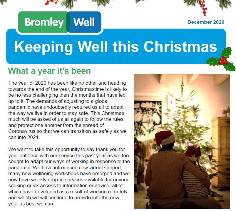 Bromley Well Coping at Christmas
