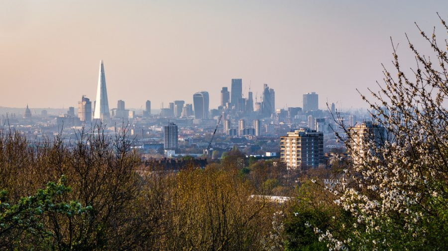 The view of London from One Tree Hill in Lewisham
