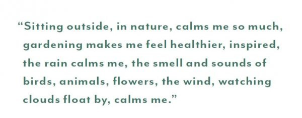 A quote about the mental health benefits of nature