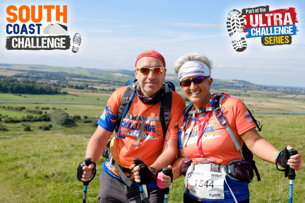 Two people participating in the South Coast Challenge