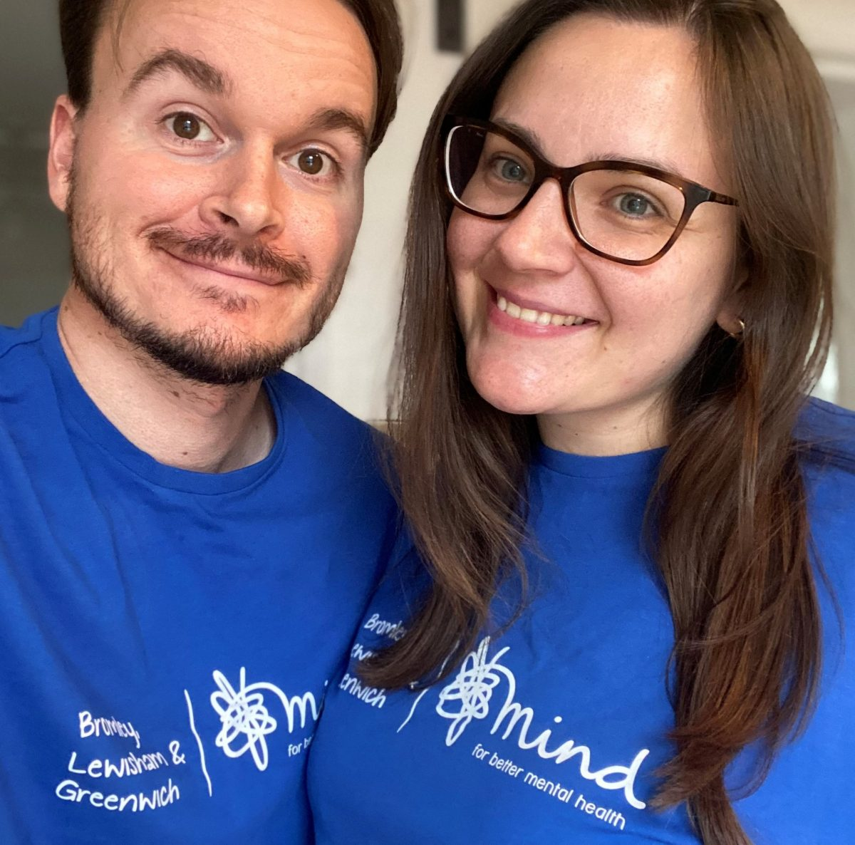 Gracie and her fiance Michael, who are running the virtula London marathon for BLG Mind