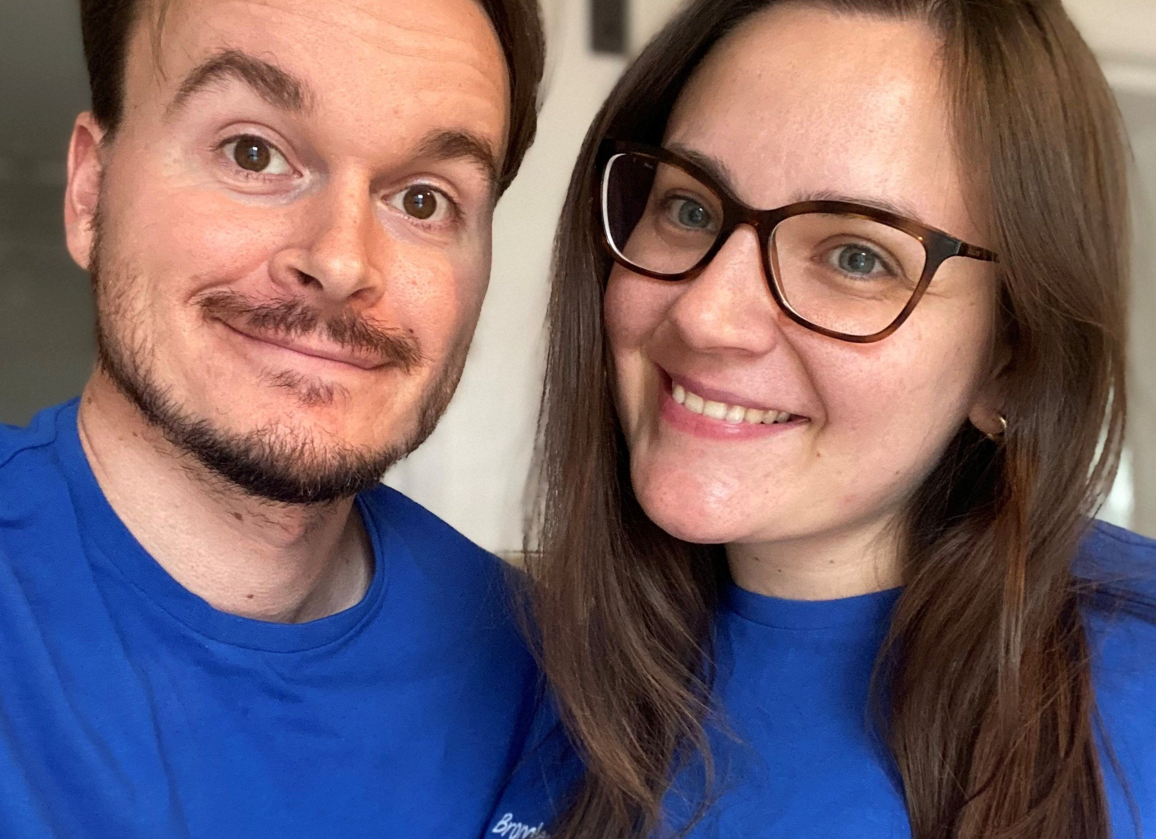 Gracie and fiance Michael, who are running the virtal London Marathon for BLG Mind